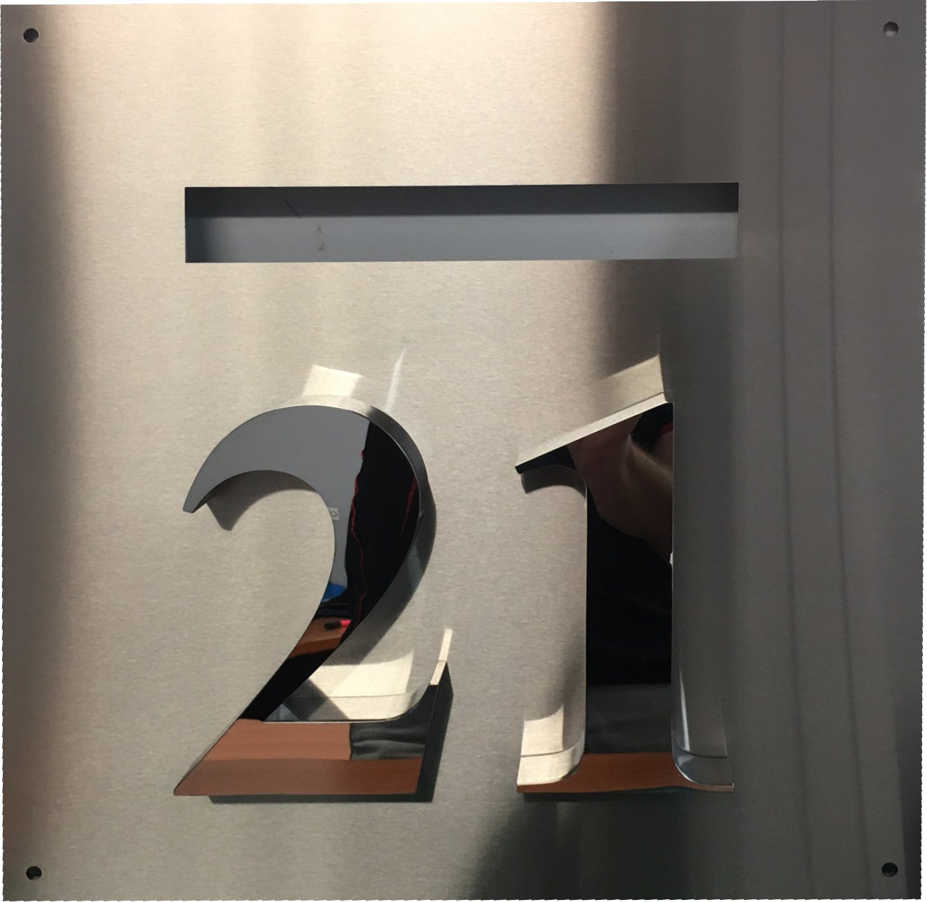 Letterbox Sign 3D Stainless Number, Mirror Finish
