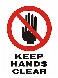 Keep Hands Clear 450x600mm